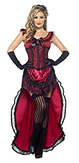 Smiffys Costume de bimbo de bordel authentique Western, bordeaux, avec robe et corset (B00DSAZIW4) | Amazon price tracker / tracking, Amazon price history charts, Amazon price watches, Amazon price drop alerts