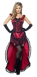 Smiffys Costume de bimbo de bordel authentique Western, bordeaux, avec robe et corset (B00DSAZIW4) | Amazon Products