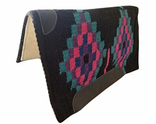 TACK MAKERS New 86,4x 91,4cm NZ Wolle Westernpad Decke w Filz schwarz 4221, schwarz -
