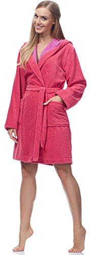 Merry Style Damen Bambusfasern Bademantel MSLL1004 Coral/Violett