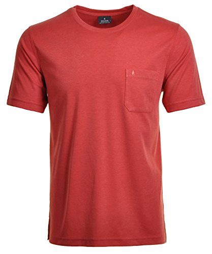 RAGMAN Herren RAGMAN T-Shirt Softknit uni, Pflegeleicht Orange-575