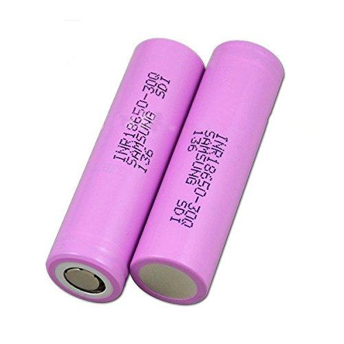Samsung, batteria 18650 30Q, 15A, 3000mAh,confezione da 2,custodia Vipertech inclusa