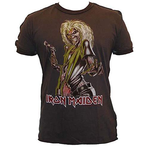 Amplified Herren Oberteile/T-Shirt Iron Maiden Killer Grau L -