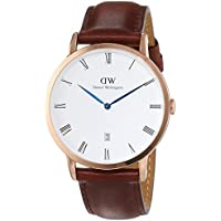 Daniel Wellington 1100DW Mens Dapper 38 St Mawes Rose Gold Brown Leather Watch