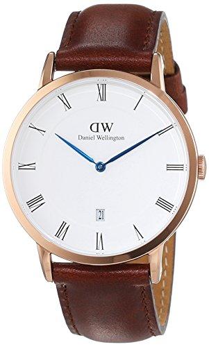 Daniel Wellington Herren-Armbanduhr Analog Quarz Leder DW00100083