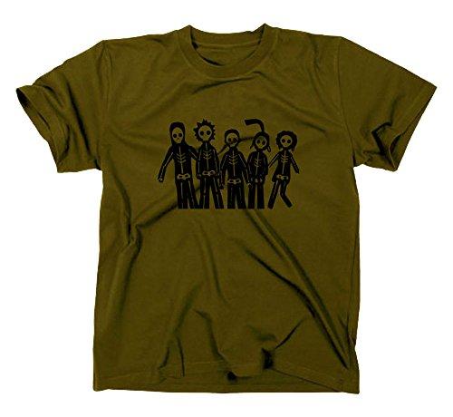 Misfits T Shirt, TV Green - Olive Large