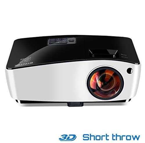 WJ HD Kurzdistanzprojektor, Tragbare 3D-Fischaugenlinse DLP-Geschäftsausbildungsfernsteuerungs-Videoprojektor, Unterstützung 4000 Lumen 1080P Home Beamer
