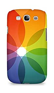 AMEZ designer printed 3d premium high quality back case cover for Samsung Galaxy S3 i9300 (translucent flower abstract)