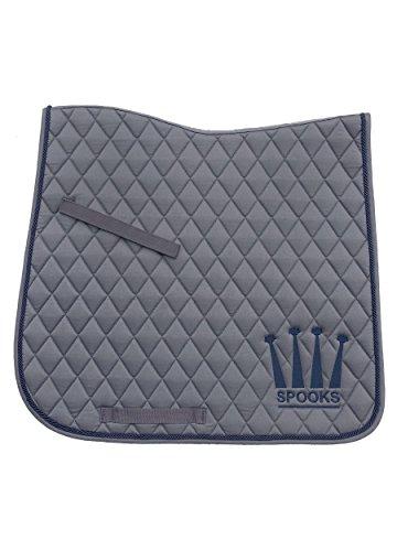 SPOOKS Schabracke Dressage Pad Happy Crown grey/navy