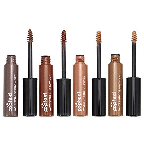 D DOLITY Set De 4pcs Maquillage à Sourcils Mascara Longue Durée Imperméable à l'eau Teinté Crème Gel
