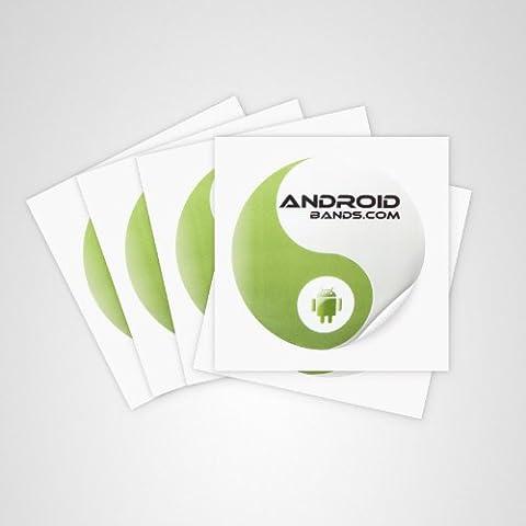 Androidbands 5er NTAG Aufkleber/Anhänger/Chip für NFC Smartphone (168 Byte) (Nfc Sticker)