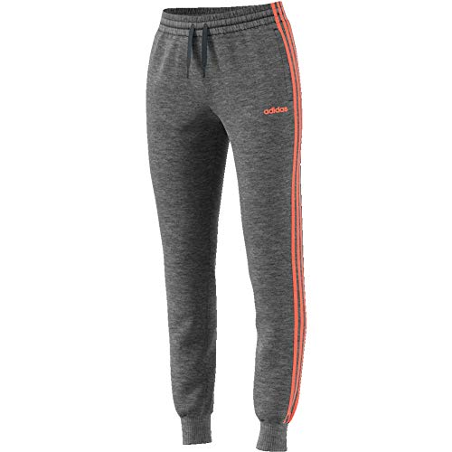 adidas Damen Essentials 3S Pants M Dark Grey Heather/Semi Coral