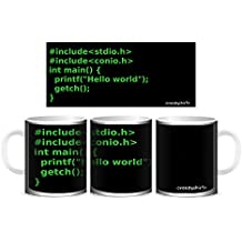 Creepyshirt - GEEK FUNNY FREAK - HELLO WORLD PROGRAMMING (GREEN) MUG