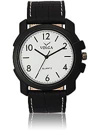 Xurious Enterprise Round Dial Analogue White Dial Black Leather Strape Fashion Wrist Watch For Men & Boys | XE_VL...