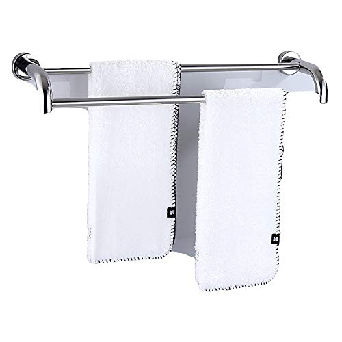 Gjrff Handtuchhalter 304 Edelstahl Badregal Hardware Anhänger Doppelstange (Size : A 30CM) (30 öl Handtuchhalter Eingerieben Bronze)