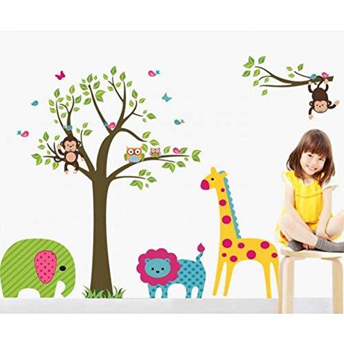 DADADUR Hauptdekoration Wandaufkleber Eule Baum Giraffe Vinyl Wandaufkleber Kinder Baby Kinder Dekor Hause Wand Papier Aufkleber Deco Kunst Aufkleber Neu, groß