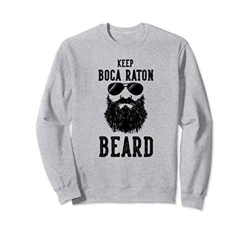 Keep Boca Raton Florida BEARD Funny Hipster Retro  Sweatshirt Florida-retro-sweatshirt
