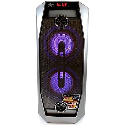 El AS de Altavoz Bluetooth con Karaoke 1000W RMS Super Speaker Peak Power Profesional Para Familia Exterior Inalámbrico de Manos Libres con Radio Fm