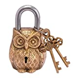 Purpledip Owl Shaped Brass Lock Antique ...