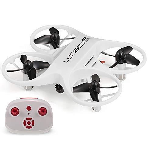 RCTecnic Mini Dron para Niños De Bolsillo Súper Resistente Tornado Control por Infrarrojos Ultra Preciso Sin Control de Altura para más Diversión Medidas 9 x 7,5 x 2,5 cm Drone Acrobático (Blanco)