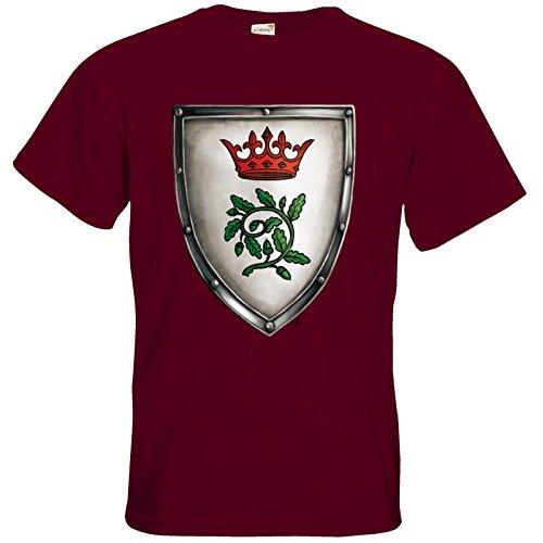 getshirts - Das Schwarze Auge - T-Shirt - Die streitenden Königreiche - Wappen Andergast S Burgundy