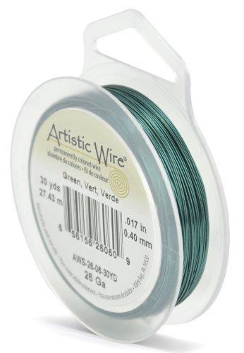 Artistic Wire Beadalon Fil de cuivre Calibre 26 27,43 m fil Vert