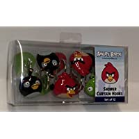 Angry Birds Shower Curtain Hooks Set of 12 by Rovio