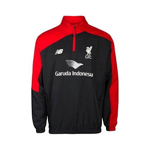 New Balance–Camiseta de Liverpool FC Windblocker–Chaqueta, Color Negro/Rojo, XL