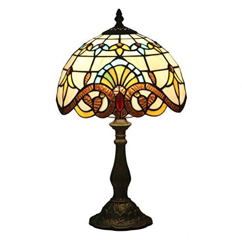 FABAKIRA Tiffany Estilo Lámpara de Mesa 10 Pulgadas Lámpara de Cabecera Lámpara de Escritorio Lámpara de la Sala de Estar de la Barra