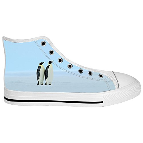 Custom Pingouin Mens Canvas Shoes Chaussures Lace Up High Top pour Sneakers Toile Chaussures de chaussures de toile chaussures de sport D