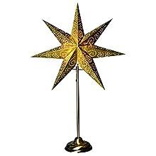 "'Star 236 – 80, Stella di carta""Antique, con carta, Gold, 14.0 x 48.0 x 45.0 cm"