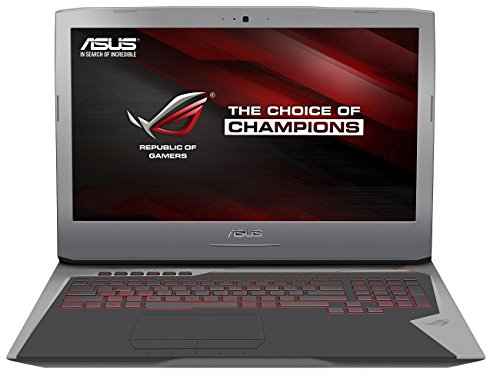 Asus ROG G752VT-GC032T 43,9cm (17,3 Zoll FHD matt) Notebook (Intel Core i7-6700HQ, 16GB RAM, 256GB SSD, 2TB HDD, Nvidia GTX 970M, BluRay, Windows 10 Home)