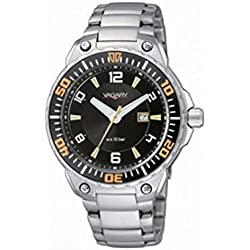 Vagary Watch By Citizen Quartz IE5 - 710 - 51 (Rechargeable) quandrante Black Strap Stainless Steel