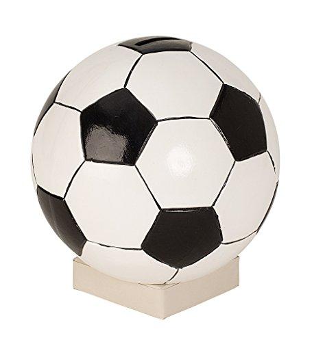 Spardose Fußball Ø 18 cm Sparbüchse schwarz weiss