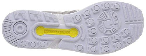 adidas ZX Flux, Scarpe da Corsa Unisex-Adulto Grigio (Aluminum/Aluminum/Running White)