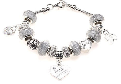 Best Friend 50th Birthday Charm Bracelet  Gift