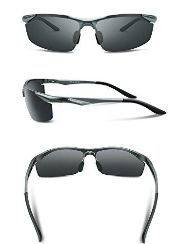 Lunettes de soleil - Lunettes de sport polarisées - Lunettes de conduite avec monture en métal Incassable - 100% anti UV400 uMcl6fE