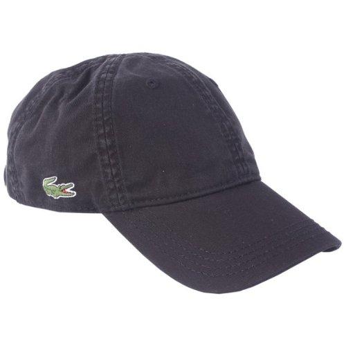 Schwarz Plain Cap von Lacoste
