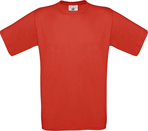 B & C Herren Casual Wear Short Sleeve Crew Neck Baumwolle Tees TOP SHIRT Exact 150 Rot - Rot