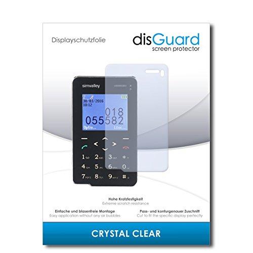 disGuard® Displayschutzfolie [Crystal Clear] kompatibel mit Simvalley Mobile Pico RX-492 [4 Stück] Kristallklar, Transparent, Unsichtbar, Extrem Kratzfest, Anti-Fingerabdruck - Panzerglas Folie, Schutzfolie