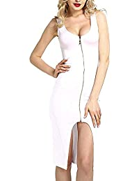 ba1c915071 HhGold Vestido de lápiz de cóctel sin Mangas de Bodycon