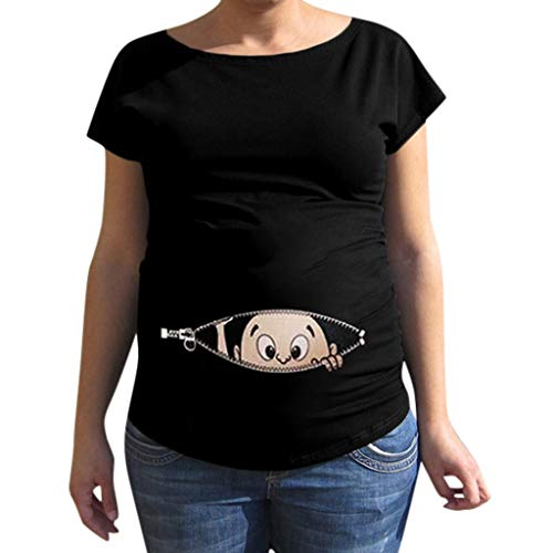 Women's Short-Sleeved Maternity T-Shirt Piebo Umstandsshirt Funny