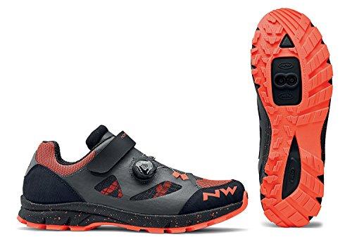 Northwave scarpe mtb freeride uomo terrea plus grigio antracite/arancio aragosta