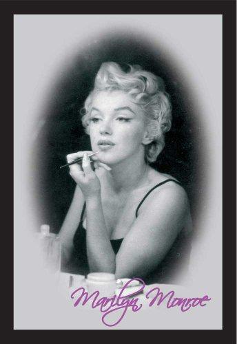 Empire 537904 - Specchio stampato Marilyn Monroe Make Up, con cornice in plastica effetto legno, 20 x 30 cm