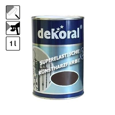1 Dose Lackfarbe Speziell Lack Metall Braun 10 M Glnzend Farbe Zaunfarbe von DEKORAL