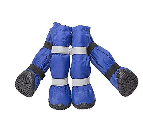 Botas Petleso impermeables para perros y mascotas medianas y grandes, para nieve o días lluviosos