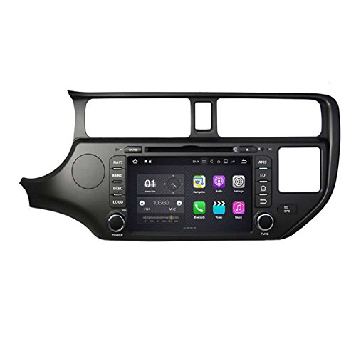 8 Zoll 2 Din Android 7.1 OS Autoradio für Kia K3/Rio(2011 2012 2013 2014), kapazitiver Touchscreen mit Quad Core 1.6G Cortex A9 CPU 16G Flash und 2G DDR3 RAM GPS Navi Radio DVD Player 3G/WiFi