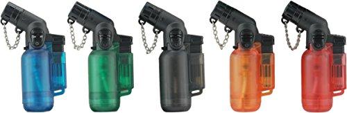 Jet Lighter - das Ultrakompakte Gasbrenner Feuerzeug hält jedem Sturm stand! Diverse Farben/Formen; Wiederaufladbar! Torch Lighter
