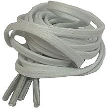 Big Laces–Cordones para zapatos (algodón encerado cordones plana 3mm de ancho–75cm o 90cm de largo