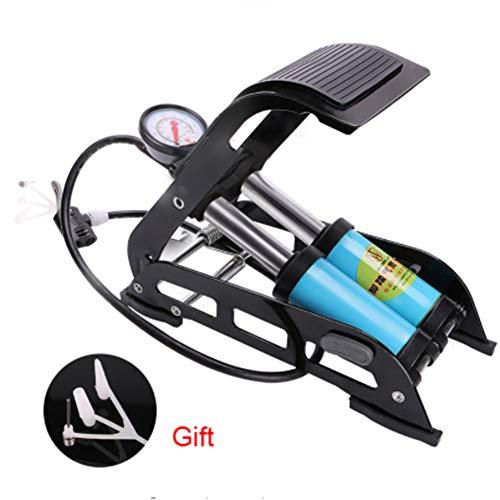 TYJH Hochdruckfußpumpe Faltende Luftpumpe Tragbare Elektrische Motorradfahrradpumpe 130 PSI Einzelner Rohrinflator